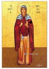 Evmenios, Bischof von Gortyne, Martyrerin Ariadne