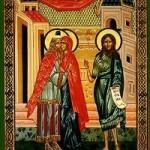Empfängnis des Vorläufers Johannes, Martyrerinnen Xanthippe und Polyxeni