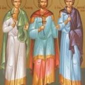 Martyrer Trophimos, Sabbatios und Dorymedon