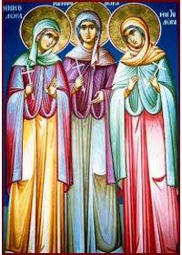 Martyrerinnen Minodora, Mitrodora und Nymphodora
