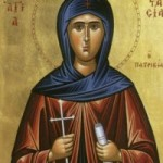 Martyrer Kodratos und seine Gefolgschaft, selige Anastasia, die Patrizierin