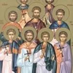 Die neun Martyrer in Kyzikos, seliger Memnon