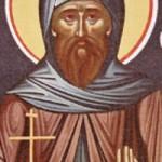 Der geheiligte Theodoros, die Mönchsväter im Kloster des heiligen Sabbas