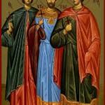 Leontios von der Insel Aegina, Martyrer Hypatios, Theodoulos, Aetherios