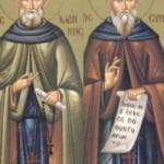 Seliger Johannes und Symeon, der Narr
