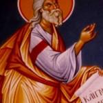 Prophet Ezekiel, Martyrerpriester Phokas, selige Pelagia auf Tinos