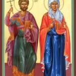 Martyrer Andrianos und Natalia, seliger Ioasaph
