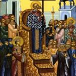 Das Prozession des ehrbaren Kreuzes, die sieben makkabäischen Jünglinge