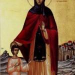 Selige Theodora, Euphrosynos der Koch, Martyrerin Evanthia