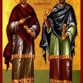 5. Lukassonntag, die Uneigennützigen Kosmas und Damianos & ihre Mutter Theodoti, David von Euboia