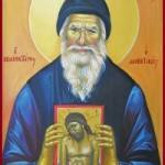 Prophet Habakuk, Martyrerin Myropi, seliger Porphyrios, der Kavsokalyvit