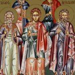 Martyrer Akindynos, Pigasios, Aphthonios Elpidophoros & Anembodistos.