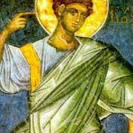 Prophet Habakuk, Martyrerin Myropi, seliger Porphyrios der Kavsokalyvit