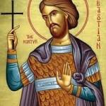 Martyrer Sebastianos und seine Gefolgschaft