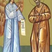 Die Verehrung der Kette des Apostels Petros, Martyrer Pevsippos und Neonílli