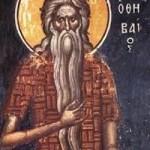 Die seligen Johannes, der Kalyvit, seliger Pavlos von Theben