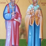 Apostel Akylas und Priskilla, seliger Martinianos, Evlogios von Alexandrien