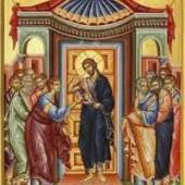 Die Berührung des heiligen Apostels Thomas, Martyrerpriester Pafnoutios