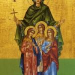 Martyrerinnen Pistis, Elpida, Agapi und ihre Mutter Sofia