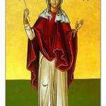 Martyrerin Charitini, selige Methodia von Kimolos