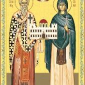 Kyprianos Martyrerpriester, Jungfraumartyrerin Joustini