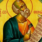 Prophet Zefanja, Johannes der Hesychast, Bischof von Kolonia, Νeumartyrer Angelis