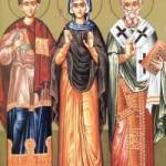 Martyrer Bonifatios, Aglais, Aris, Evtychios, Thessaloniki