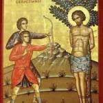 Martyrer Sebastianos und seine Gefolgschaft, seliger Michail