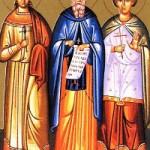 Martyrer Hermylos und Stratónikos, seliger Maximos, der Kavsokalyvít