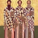 Die heiligen drei Hierarchen, Basileios der Große, Grigorios der Theologe, Johannes Chrysostomos