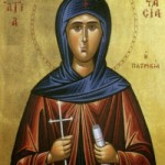 Martyrer Kodratos und seine Gefolgschaft, selige Anastasia die Patrizierin