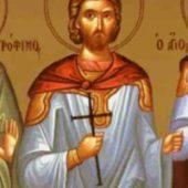 Martyrer Trophimos, Sabbatios, Dorimedon
