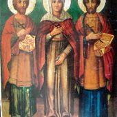 Die Uneigennützigen Kosmas und Damianos & ihre Mutter Theodoti, David von Euboia